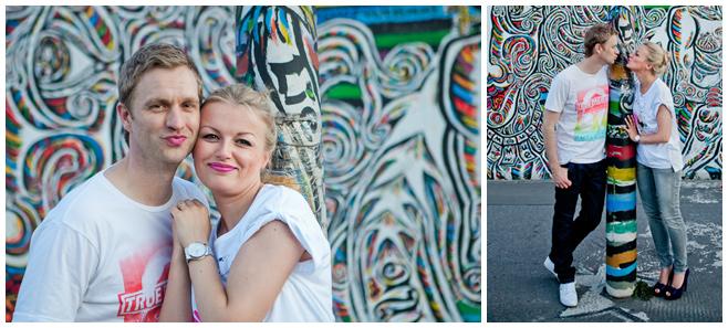 Paar-Fotoshooting an der East Side Gallery Berlin © Berliner Fotostudio LUMENTIS