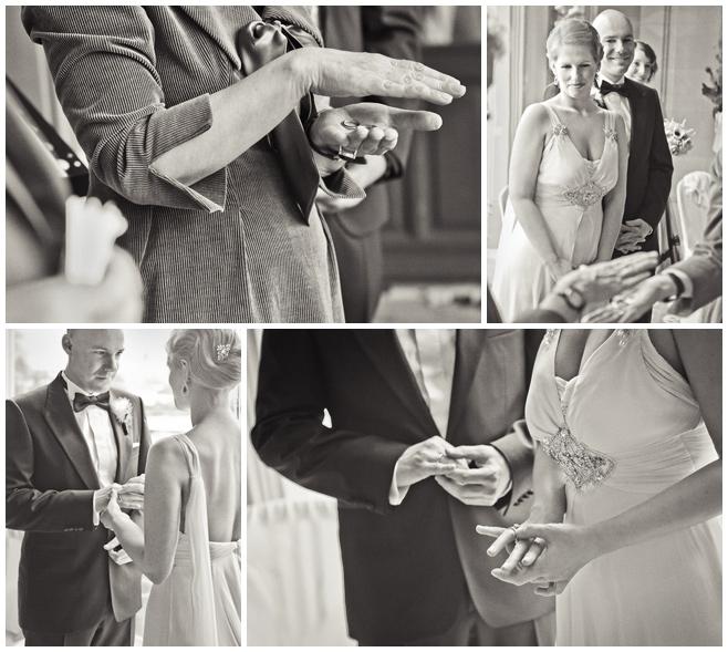 Tausch der Eheringe auf Vintage-Hochzeit im Schloss Schadau © Hochzeitsfotograf Berlin hochzeitslicht