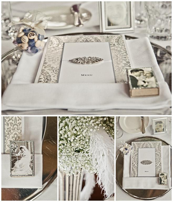 Vintage Menü Karte zur Hochzeit © Hochzeitsfotograf Berlin hochzeitslicht