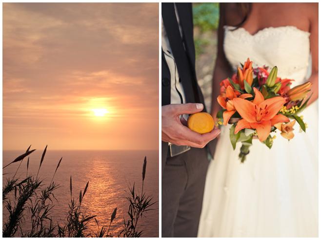 Hochzeitsfoto an Küste von Mallorca zum Sonnenuntergang © Hochzeitsfotograf Berlin hochzeitslicht