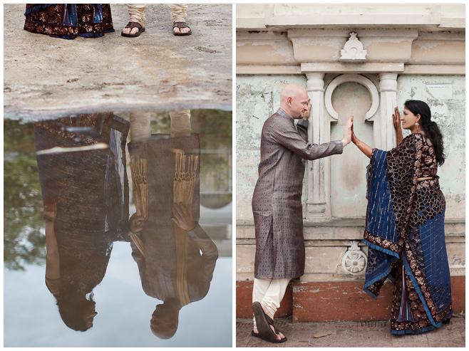 Brautpaar-Fotoshooting bei Hochzeit in Indien © Hochzeitsfotograf Berlin hochzeitslicht