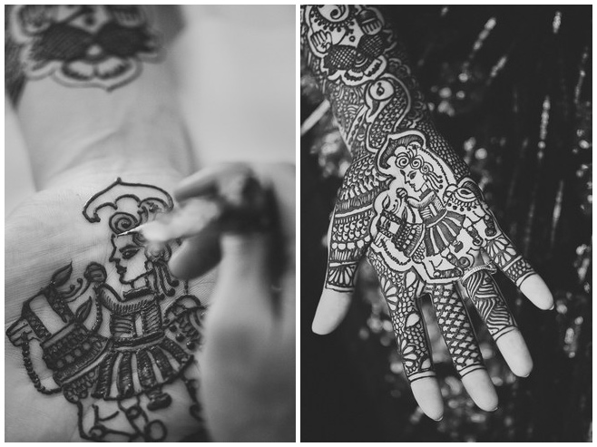 Mehndi bei indischer Hochzeitszeremonie © Hochzeitsfotograf Berlin hochzeitslicht