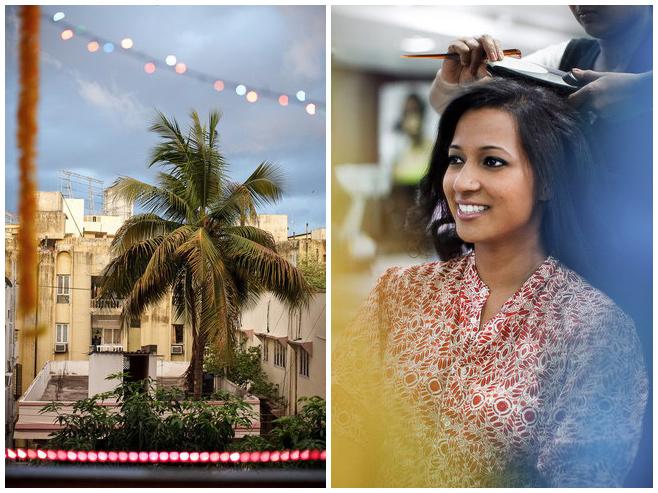 Getting Ready der Braut für indische Hochzeitszeremonie © Hochzeitsfotograf Berlin hochzeitslicht
