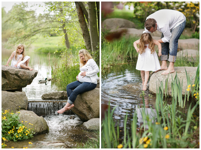 Familie bei Babybauch-Shooting outdoor © Berliner Fotostudio LUMENTIS