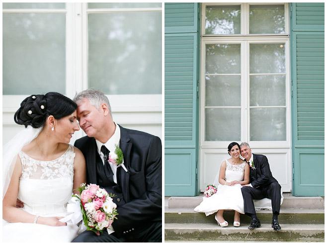Brautpaar-Foto vor Schloss Charlottenburg, Berlin © Hochzeitsfotograf Berlin hochzeitslicht