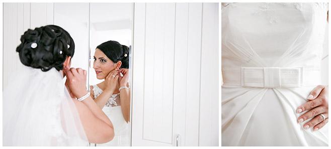 Hochzeitsfotografie von Braut bei Vorbereitungen auf Brautpaar-Fotoshooting Berlin© Hochzeitsfotograf Berlin hochzeitslicht