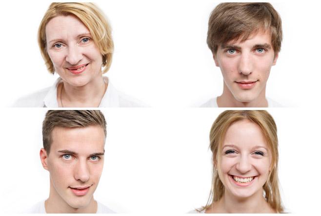 Einzelaufnahmen der Familienmitglieder bei Familienfotoshooting in Berlin © Berliner Fotostudio LUMENTIS