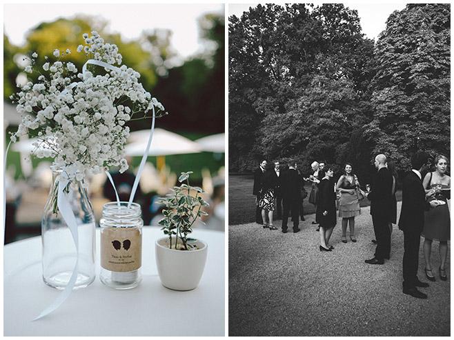 Sektempfang bei Hochzeit auf Schloss Kartzow © Hochzeitsfotograf Berlin hochzeitslicht
