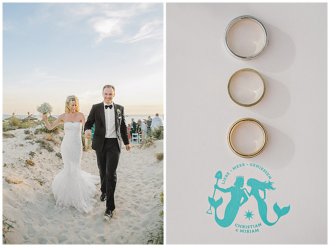Auszug des Paares nach Strandhochzeit auf Mallorca © Hochzeitsfotograf Berlin hochzeitslicht