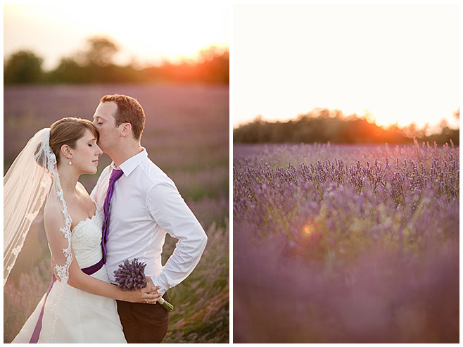 Portrait von Brautpaar bei After-Wedding-Fotoshooting in Lavendelfeld, Provence © Hochzeitsfotograf Berlin hochzeitslicht