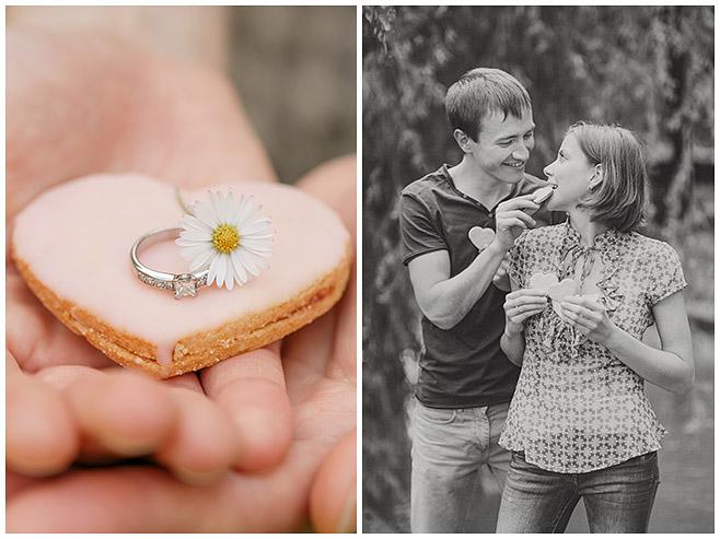 Herzförmige Plätzchen als Accessoire bei Verlobungs-Fotoshooting © Berliner Fotostudio LUMENTIS