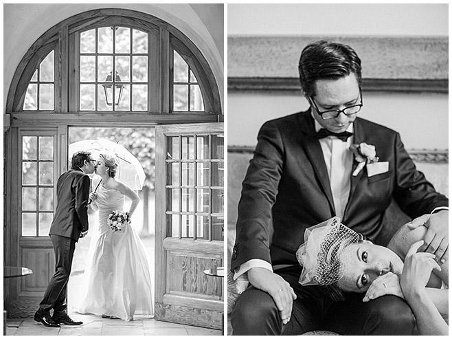 Braut und Bräutigam bei Brautpaar-Fotoshooting auf Schloss Herzfelde © Hochzeitsfotograf Berlin hochzeitslicht