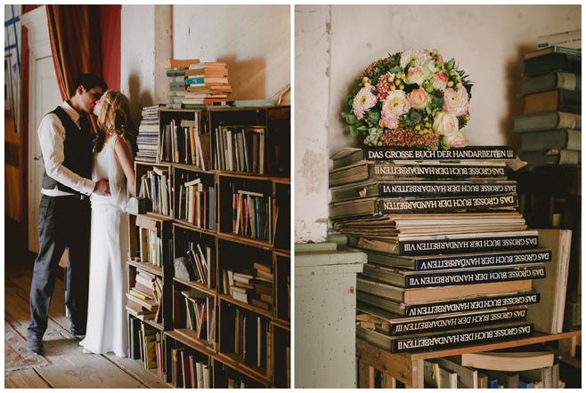 Hochzeitsfotos von Brautpaar und Detailaufnahme von Brautstrauß in Pastelltönen aufgenommen von Hochzeitsfotorafin Berlin auf Kultur-Gut Wrechen © Hochzeitsfotograf Berlin hochzeitslicht