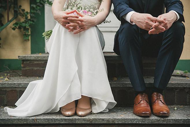 Hochzeitsfotografie von Brautpaar bei Spreewald-Hochzeit © Hochzeitsfotograf Berlin www.hochzeitslicht.de