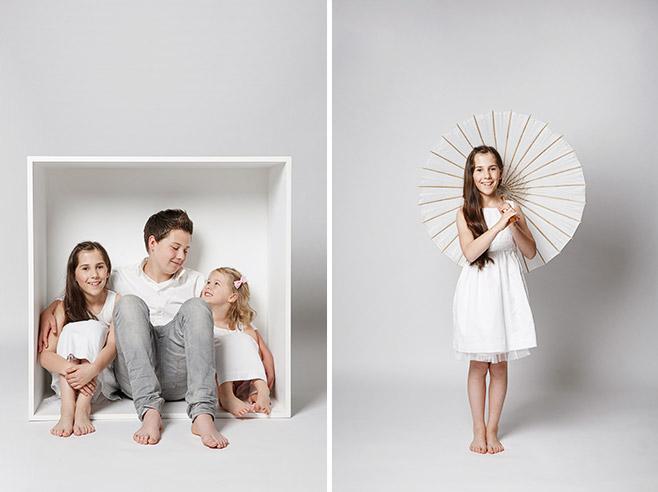 Drei Geschwister bei Kinder-Fotoshooting in Berlin © Fotostudio Berlin LUMENTIS