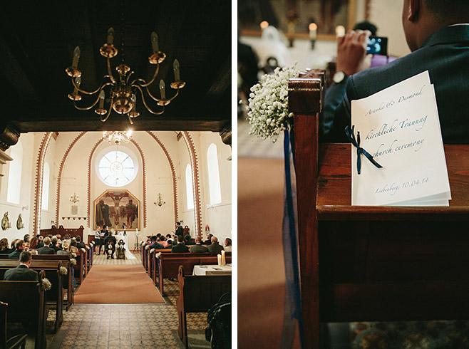 Hochzeitsfotos von Trauung in Kirche auf Schloss und Gut Liebenberg © Hochzeitsfotograf Berlin www.hochzeitslicht.de