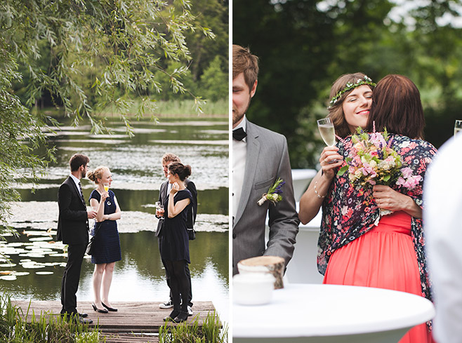 Hochzeitsfoto von Sektempfang am Groß Behnitzer See bei Landgut Stober Hochzeit © Hochzeitsfotograf Berlin www.hochzeitslicht.de