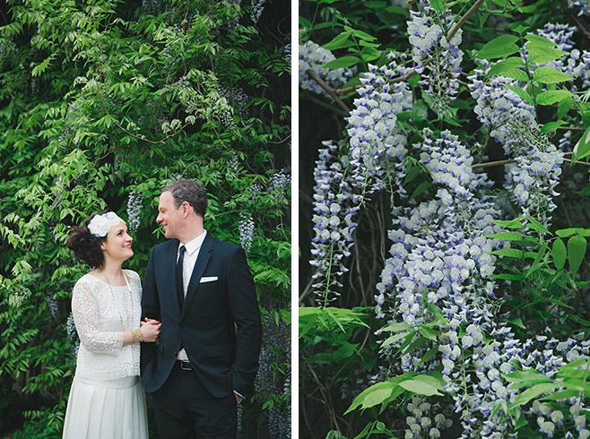 Hochzeitsportraits von Braut und Bräutigam bei Boho-Hochzeit in Berlin aufgenommen von professioneller Hochzeitsfotografin © Hochzeitsfotograf Berlin www.hochzeitslicht.de