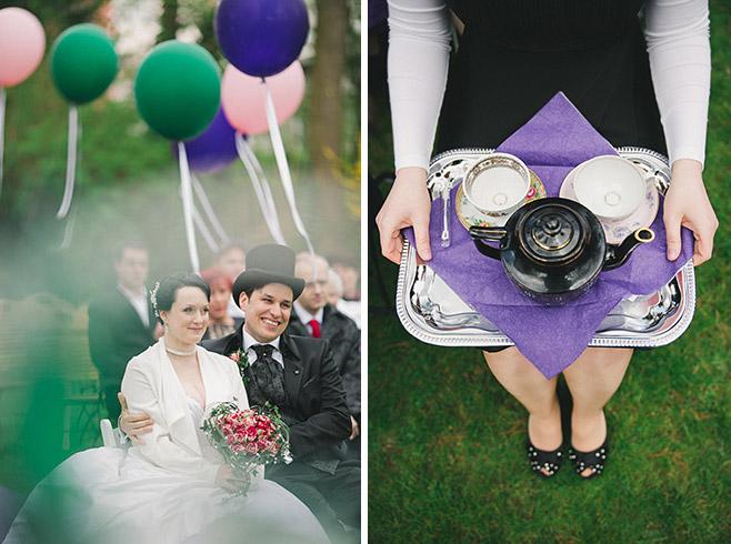 Hochzeitsreportage-Fotos aufgenommen von professioneller Hochzeitsfotografin bei Alice im Wunderland Hochzeit in Berlin © Hochzeitsfotograf Berlin www.hochzeitslicht.de