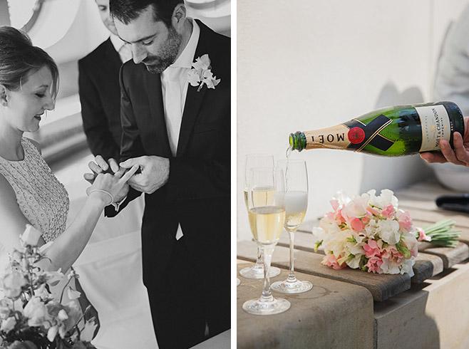 Hochzeitsreportage-Foto bei Trauung und Champagner-Empfang im Standesamt Französischer Dom Gendarmenmarkt Berlin Mitte © Hochzeitsfotograf Berlin www.hochzeitslicht.de