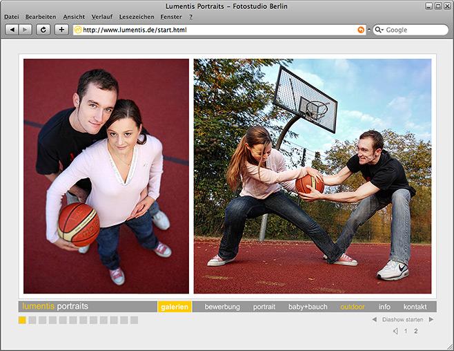 lumentis portraits - webseite
