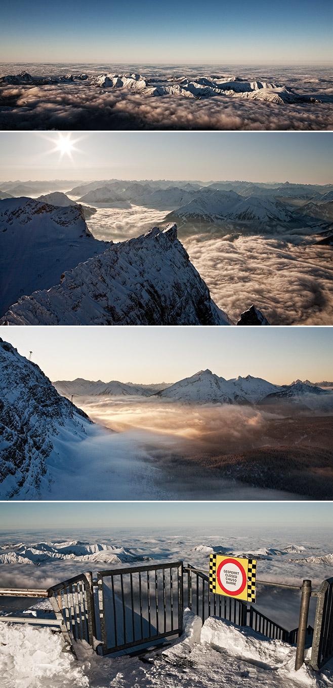 Zugspitze in Bayern Deutschland