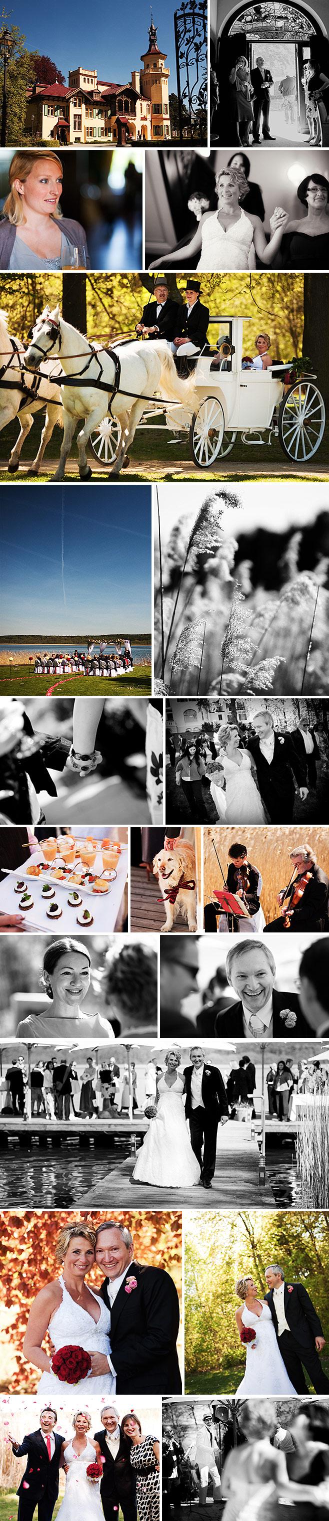 Hochzeit auf Schloss Hubertushoehe in Storkow