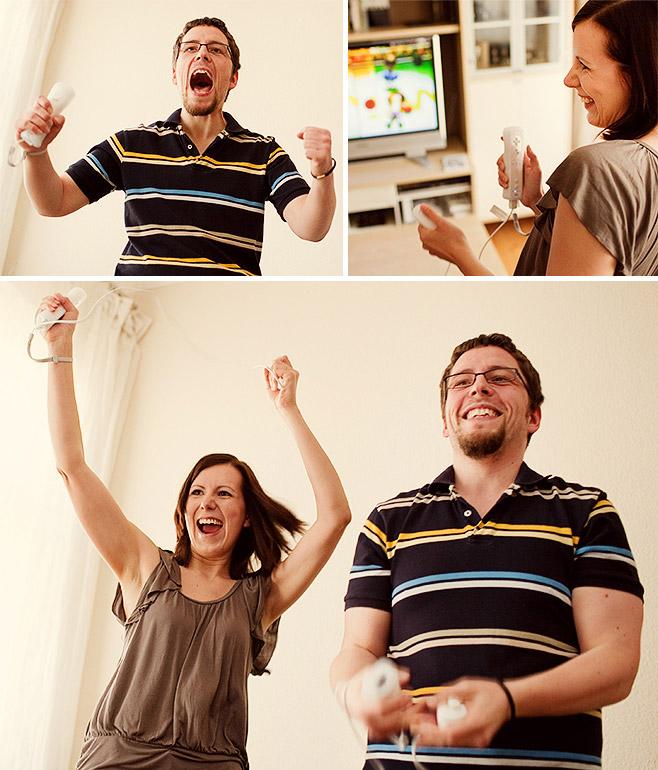 Heike und Thomas spielen Nintendo Wii