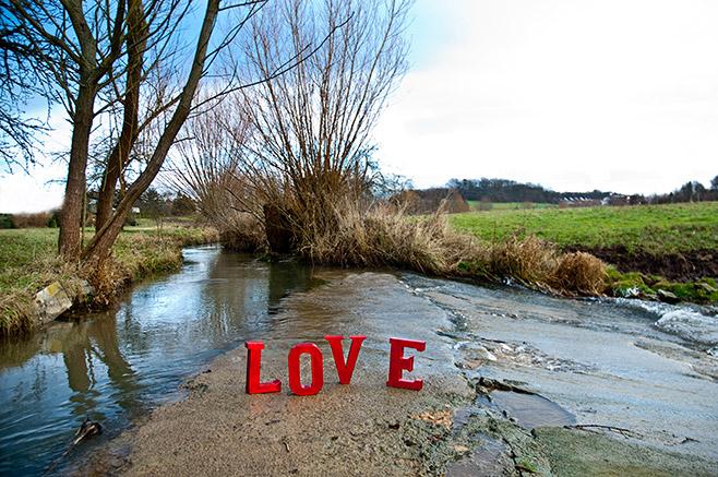 love - ein winterlicher Tag in der Natur