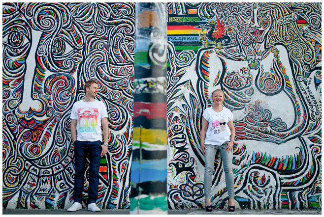 Paarfotografie an der East Side Gallery Berlin © Berliner Fotostudio LUMENTIS