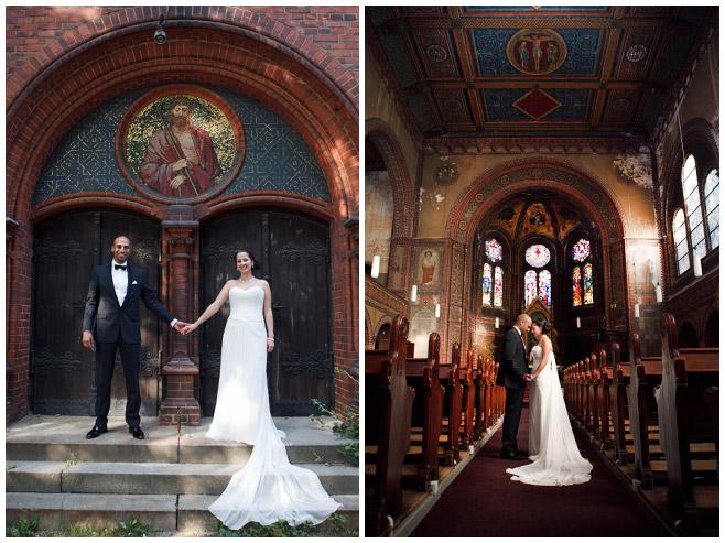 Brautpaarfotos in der Immanuelkirche Berlin © Hochzeitsfotograf Berlin hochzeitslicht