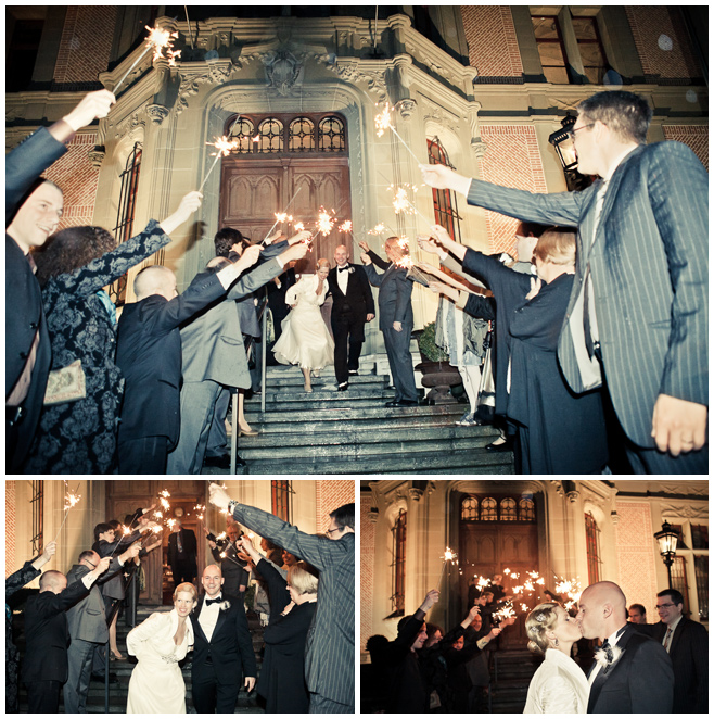 Auszug Brautpaar bei hochzeitslicht © Hochzeitsfotograf Berlin hochzeitslicht