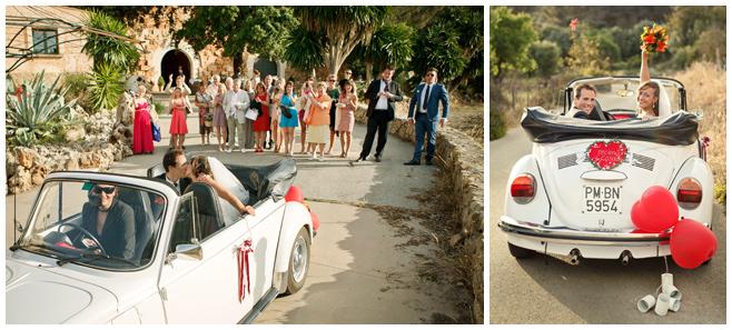 Hochzeitsfotos der Abfahrt vom Weingut Bodega Santa Catarina, Mallorca © Hochzeitsfotograf Berlin hochzeitslicht