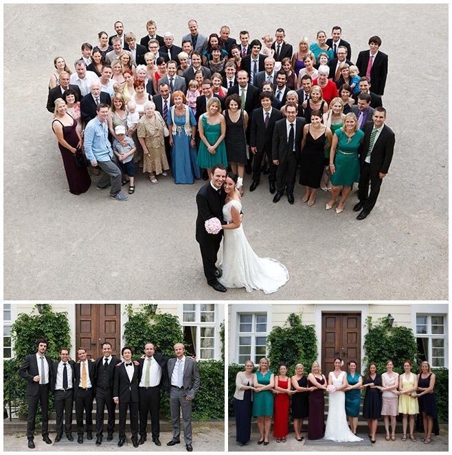 Gruppenfotos der Hochzeitsgesellschaft auf Schloss Lübbenau Spreewald © Hochzeitsfotograf Berlin hochzeitslicht