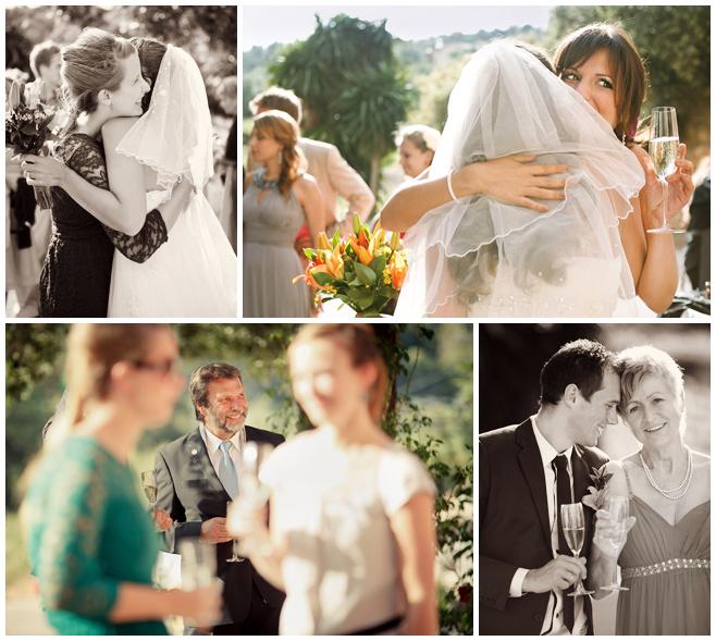 Fotos der Hochzeitsgäste beim Empfang auf Weingut in Mallorca  © Hochzeitsfotograf Berlin hochzeitslicht