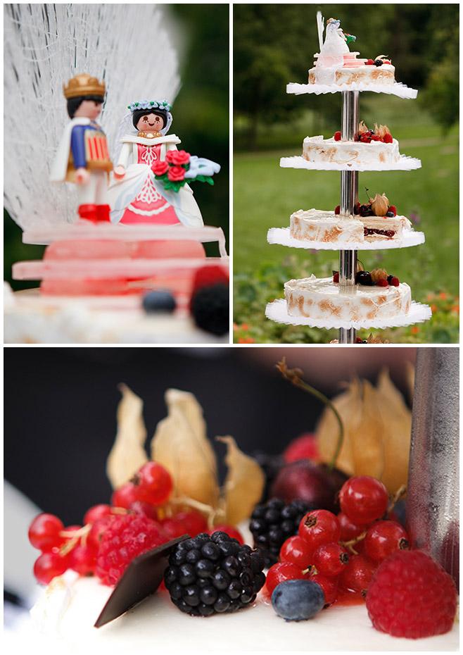 Hochzeitstorte serviert im Park von Schloss Lübbenau Spreewald © Hochzeitsfotograf Berlin hochzeitslicht