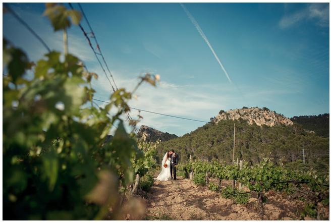 Foto in den Weinbergen von Hochzeit auf Mallorca © Hochzeitsfotograf Berlin hochzeitslicht
