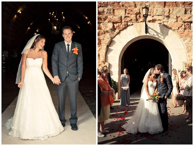 Brautpaar nach Trauung auf Weingut Bodegas Santa Catarina in Mallorca © Hochzeitsfotograf Berlin hochzeitslicht