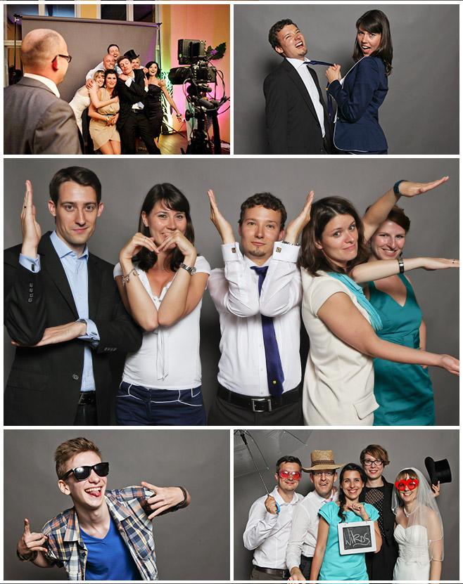 Gruppenfotos im Photobooth bei Hochzeit in Berlin © Hochzeitsfotograf Berlin hochzeitslicht
