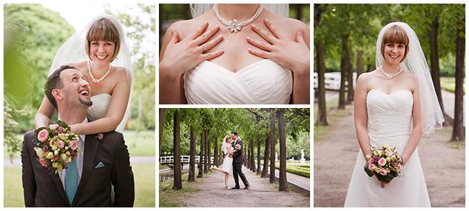 Brautpaarfotos im Tierpark bei Schloss Friedrichsfelde Berlin von professionellem Hochzeitsfotografen © Hochzeitsfotograf Berlin hochzeitslicht