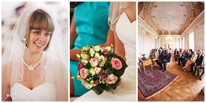 Hochzeitsfotos bei Trauung im Standesamt Schloss Friedrichsfelde © Hochzeitsfotograf Berlin hochzeitslicht