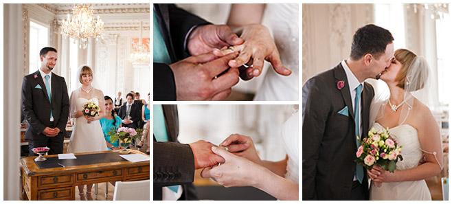 Hochzeitsfotos bei standesamtlicher Trauung im Schloss Friedrichsfelde © Hochzeitsfotograf Berlin hochzeitslicht