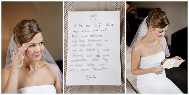 Liebesbrief von Bräutigam an Braut zur Hochzeit © Hochzeitsfotograf Berlin hochzeitslicht