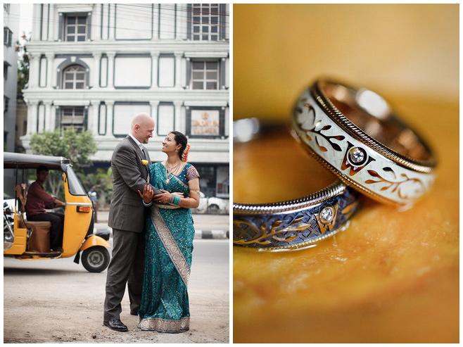 Brautpaarfoto und Detailaufnahme der Eheringe bei Hochzeit in Indien © Hochzeitsfotograf Berlin hochzeitslicht