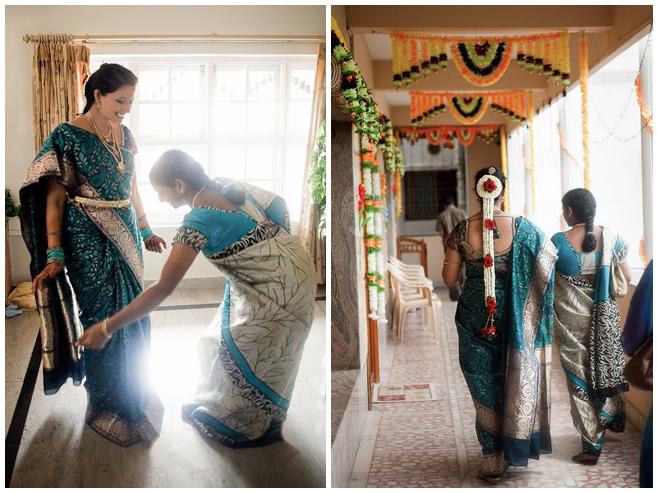 Hochzeitsreportagefoto von den Vorbereitungen der Braut auf indische Hochzeitszeremonie © Hochzeitsfotograf Berlin hochzeitslicht
