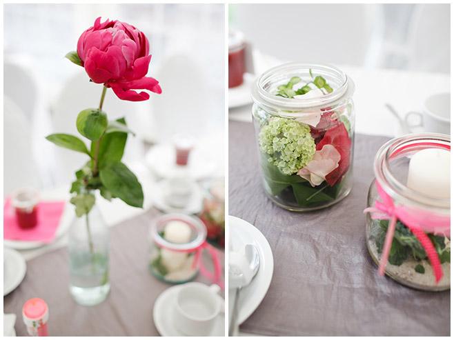 Tischdekoration bei Hochzeit auf dem Milanhof in Guhrow © Hochzeitsfotograf Berlin hochzeitslicht