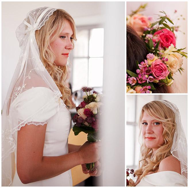 Hochzeitsreportage-Fotos der vintage Braut mit Schleier © Hochzeitsfotograf Berlin hochzeitslicht