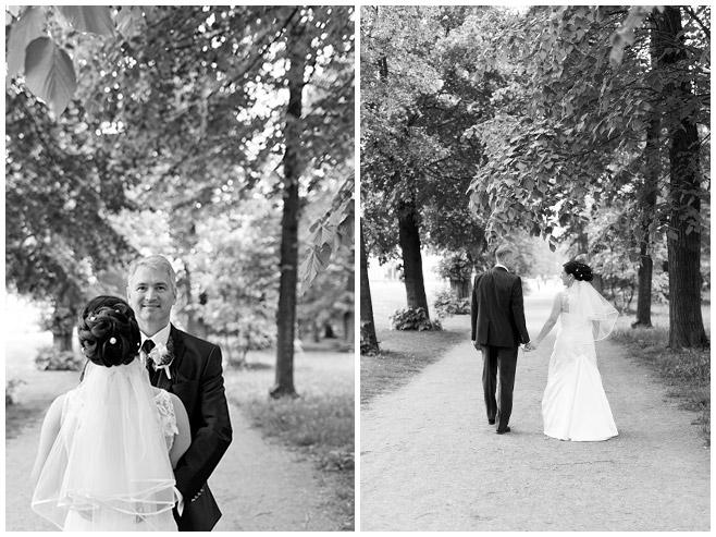 Brautpaarfotos aufgenommen in Parkanlage des Schloss Charlottenburg, Berlin © Hochzeitsfotograf Berlin hochzeitslicht
