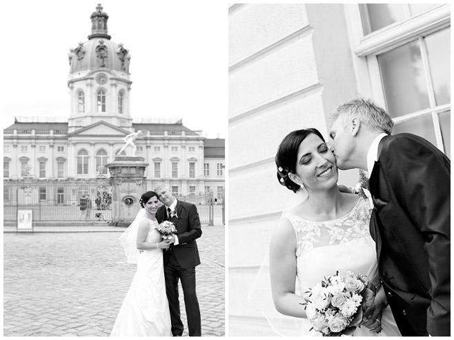 Hochzeitsfotos vor Schloss Charlottenburg © Hochzeitsfotograf Berlin hochzeitslicht