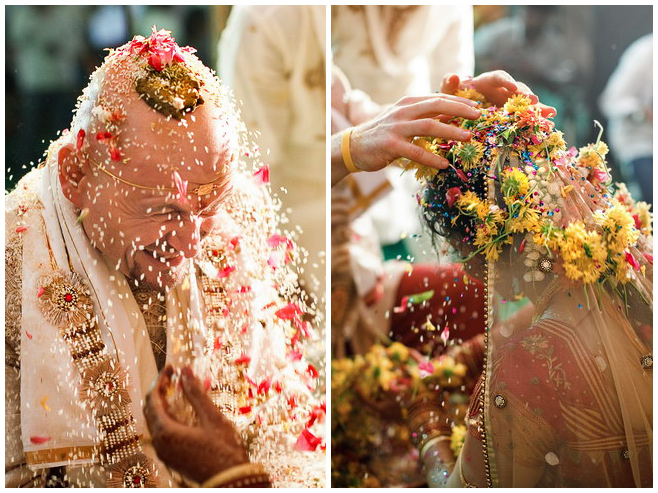 Brautpaar bei indischer Hochzeit © Hochzeitsfotograf Berlin hochzeitslicht